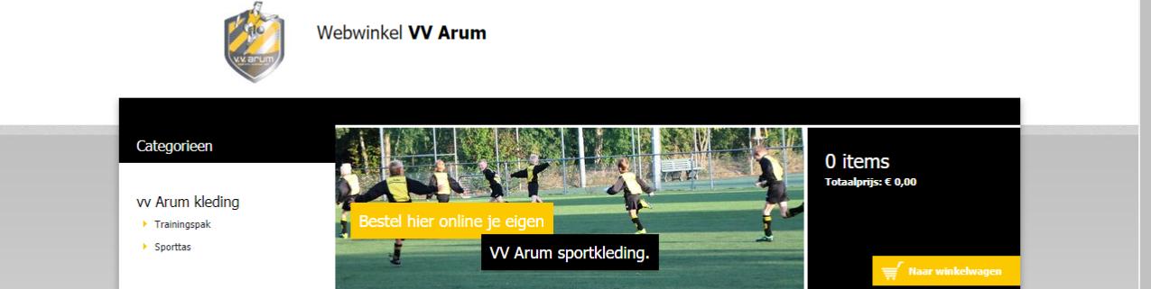 Webwinkel Kleding.Nieuw De V V Arum Kleding Webshop Vv Arum